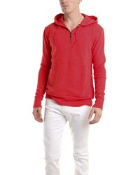 Via Spare Long Sleeve Half Zip Fleece In Red red - Lyst