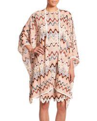 Missoni Wave Knit Shawl multicolor - Lyst