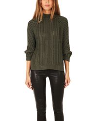 3.1 Phillip Lim Cable Pullover Sweater - Lyst