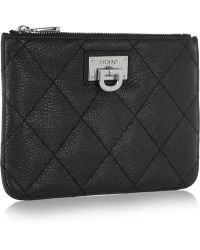 DKNY - Quilted Textured-leather Pouch - Lyst