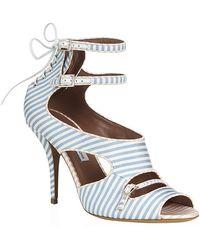 Tabitha Simmons Bailey Striped Sandal - Lyst