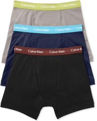 Calvin Klein Mens Cotton Stretch Boxer Briefs 3 Pack - Lyst