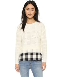 Madewell | Sydney Needled Woven Pullover - Snowflake | Lyst