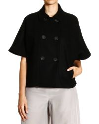 RED Valentino Coat Wool Cloth Raglan Sleeves Double Breast - Lyst