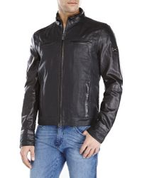 Verri - Black Mixed Media Leather Jacket - Lyst