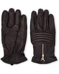 Joseph Abboud | Moto Zip Leather Gloves | Lyst