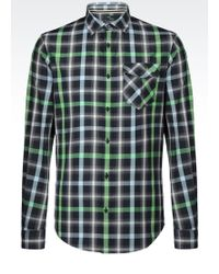 Armani Jeans Slim Fit Shirt In Checked Cotton - Lyst