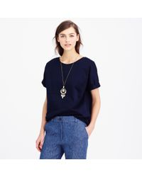 J.Crew Collection Double-Knit Tee - Lyst