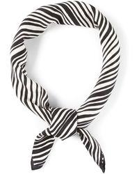 Yves Saint Laurent Vintage Striped Scarf - Lyst