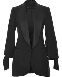 Elie Saab Stretch Wool and Satin Blazer - Lyst