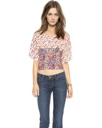 House Of Harlow Ava Top - Fig Final Print - Lyst