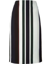 Marni Striped Midi Skirt - Lyst
