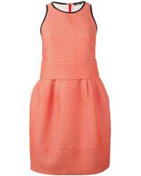 Jil Sander Navy Sleeveless Pleated Dress - Lyst