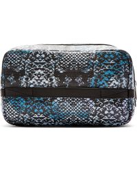 Marc By Marc Jacobs Blue Leather Rex Snake Martin Dopp Kit - Lyst