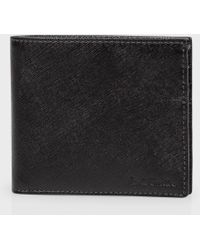 Paul Smith Black Saffiano Leather Billfold Wallet - Lyst