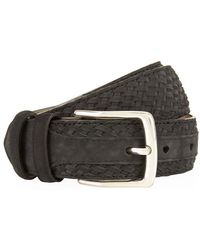 Harrods - Braided Nubuck Belt - Lyst