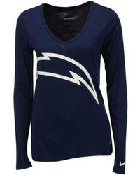 Nike Women'S Three-Quarter-Sleeve Mississippi Rebels Raglan T ...