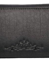 Urbancode - Leather Black Twist Lock Purse - Lyst