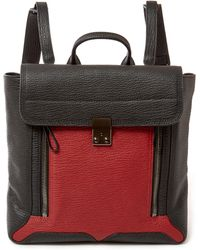 3.1 Phillip Lim - Red And Black Pashli Panelled Leather Backpack - Lyst