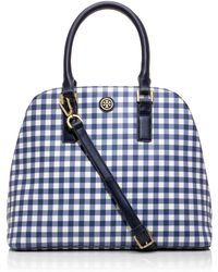 Tory Burch Kerrington Gingham Open Dome Tote - Lyst
