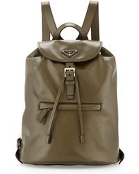Prada Soft Calfskin Medium Backpack - Lyst