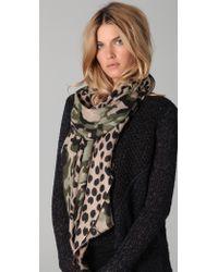 Yarnz - Camo Leopard Scarf - Lyst