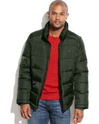 Tommy Hilfiger Standcollar Puffer Coat - Lyst