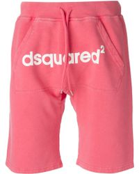 DSquared2 Pink Track Shorts - Lyst