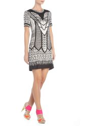 BCBGMAXAZRIA Runway Kidd Deco Silk Lace Dress - Lyst