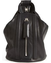 Rag & Bone 'Aston' Leather Sling Backpack - Lyst