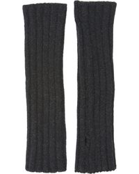 Barneys New York Rib-Knit Fingerless Arm Warmers - Lyst