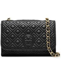 913a5c46da5c Tory Burch - Marion Quilted Shrunken Shoulder Bag - Lyst