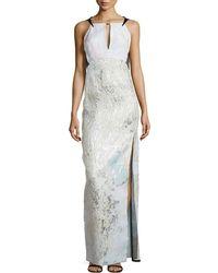 J. Mendel Side-Slit Column Gown - Lyst