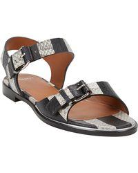 Givenchy Snakeskin Bucklestrap Sandals - Lyst