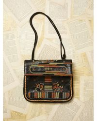 Free People Womens Vintage Leather Embroidered Bag black - Lyst