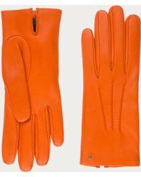 Bally - Leather Gloves Women's Nappa Leather Gloves In Blaze Orange - Lyst