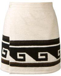 Isabel Marant Ecru Knitted Wrap Sienna Mini Skirt - Lyst