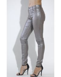 James Jeans Twiggy Metallic Coated Skinny Jeans - Lyst