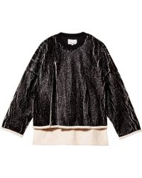 3.1 Phillip Lim Cut Away Sweatshirt - Lyst