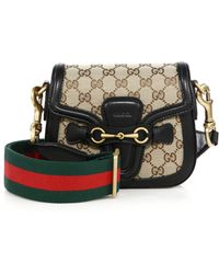 Gucci | Lady Web Small Gg Canvas Shoulder Bag | Lyst