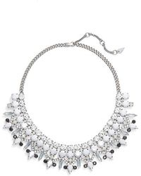 Kent & King - 'drama' Crystal Bib Necklace - Lyst