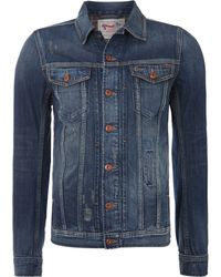 Diesel Washed Denim Jacket - Lyst