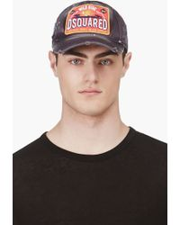 DSquared2 Grey Dsquared Wild Side Logo Baseball Cap - Lyst