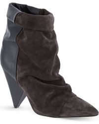 Isabel Marant Andrew Suede and Leather Ankle Boots - Lyst