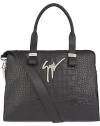 Giuseppe Zanotti - Crocodile-embossed Leather Holdall - For Men - Lyst