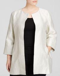 Eileen Fisher Plus Textured Long Jacket - Lyst