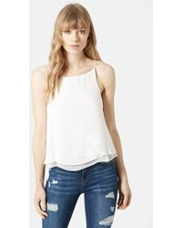 Topshop Women'S Double Layer Camisole - Lyst
