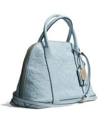 Coach Bleecker Preston Satchel in Signature Embossed Leather - Lyst