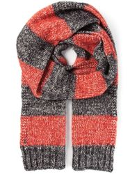 Dondup Striped Scarf - Lyst
