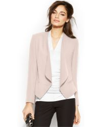 Vince Camuto Draped Front Blazer - Lyst